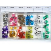AUTOMOTIVE MINI BLADE FUSE SET 100pc